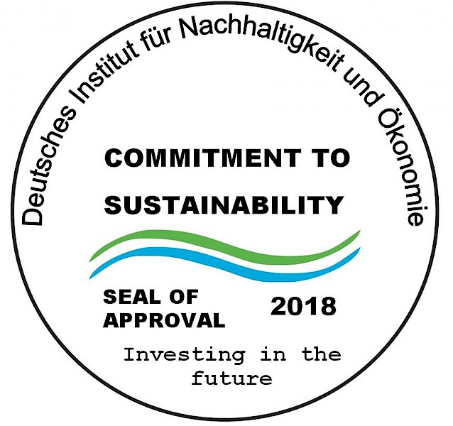"Seal of Approval 2018: ""Commitment to Sustainability"""